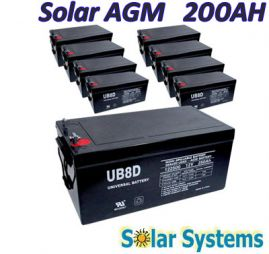 Battery AGM  200AH